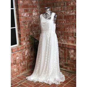 Aidan Mattox Size 14 White Dress